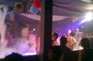 Foam party in a nightclub